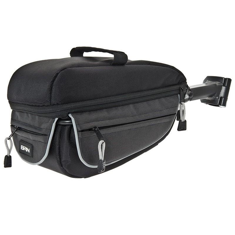 Sattelstützentasche Fahrradtasche Gepäcktasche Koffertasche Netz 8L schwarz
