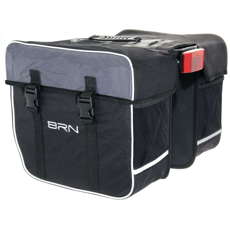 Gepäckträgertasche Doppeltasche 32L stabil verstärkt Fahrradtasche schwarz