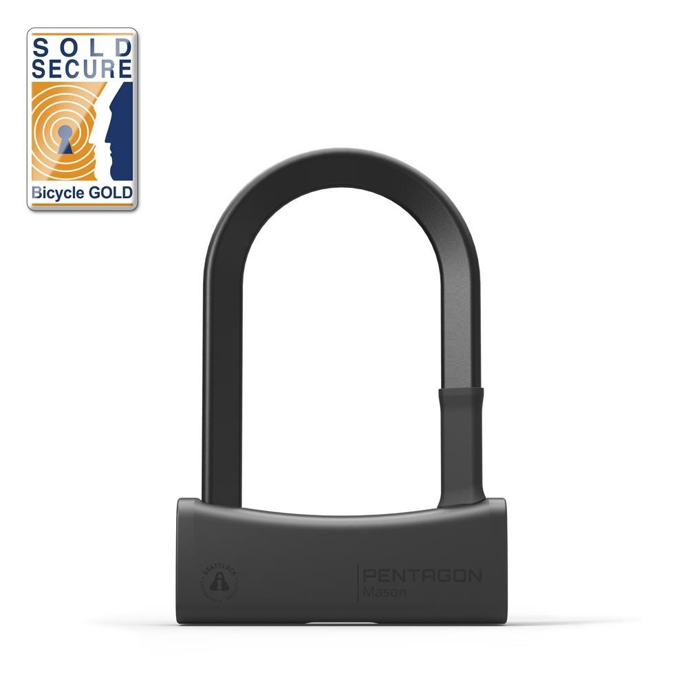 Seatylock Mason U Lock Bügelschloss sicher robust 17mm Stahl Typ 85/140 schwarz