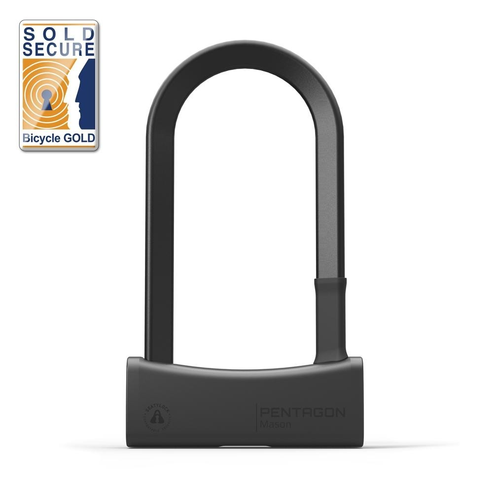 Seatylock Mason U Lock Bügelschloss sicher robust 17mm Stahl Typ 85/180 schwarz