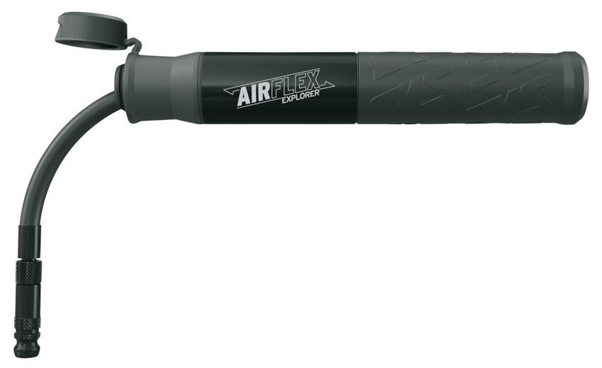 SKS Airflex Explorer Luftpumpe flexibel AV SV max. 5bar 73PSI schwarz inkl. Halter