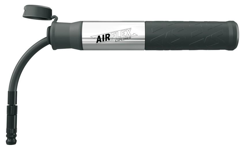 SKS Airflex Explorer Luftpumpe flexibel AV SV max. 5bar 73PSI silber inkl. Halter