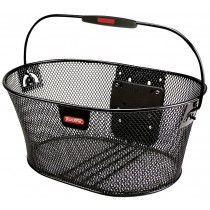 Klickfix Oval Korb Lenkerkorb ohne Lenkeradapter schwarz feinmaschig Einkaufskorb
