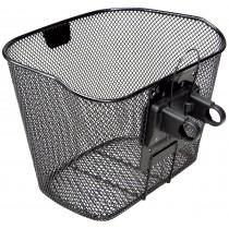 Vorderradkorb Klickfix Festkorb mit Halter schwarz Fahrradkorb Festmontage