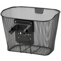 Vorderradkorb Klickfix Festkorb mit Halter E für Ebikes schwarz