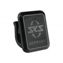 SKS Unterlaufstrebenclip mit SKS Logo gespritzt schwarz 1 Stück Ersatzclip