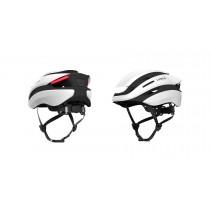 Lumos Ultra Fahrradhelm LED Helm Blinker hinten M/L 54-61cm jet white weiß