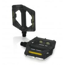 "XLC Plattform Pedale PD-M16 schwarz transparent 9/16"" mit Kunststoff-Pins"