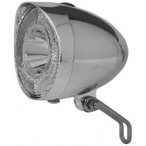Union Scheinwerfer 4915 Fahrradlicht Beleuchtung Batterie chrom inkl. Halter