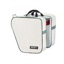 Gepäckträgertasche Fahrradtasche Einzel & Doppeltasche Tragegriff 15 Liter -  weiß