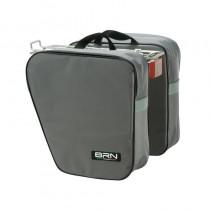 Gepäckträgertasche Fahrradtasche Einzel & Doppeltasche Tragegriff 15 Liter -  grau