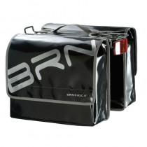 Gepäckträgertasche Fahrradtasche wasserfest LKW Plane stabil 22 L schwarz