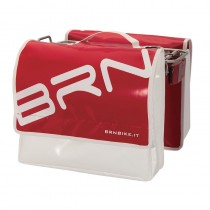 Gepäckträgertasche Fahrradtasche stabil wasserfest LKW Plane 22L rot