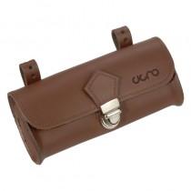 Cigno Leder Satteltasche Fahrradtasche leather saddlebag handgemacht Leder braun