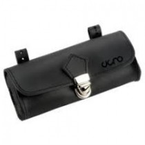 Cigno Leder Satteltasche Fahrradtasche leather saddlebag handgemacht Leder schwarz