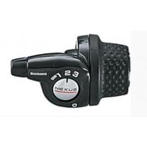Shimano Nexus Drehgriffschalter 3 Gang schwarz SL3S35E inkl. Zug & Hülle Revoshift
