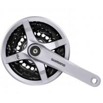 Shimano Tourney FCTY501 Kettenradgarnitur Kurbel 24-34-42 Zähne 175mm silber