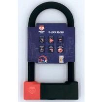 PentagonLocks D-Lock U Lock Bügelschloss sicher robust Typ 85/180 schwarz-rot
