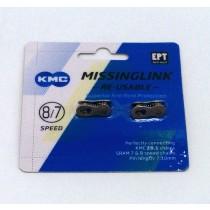 KMC Missing Link Kettenschloss 2er 7/8 Speed Shimano 7,1mm PIN