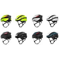 Lumos Ultra MIPS Fahrradhelm LED Helm Blinker hinten 54-61cm schwarz lime weiß blau