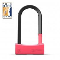 Seatylock Mason U Lock Bügelschloss sicher robust 17mm Stahl Typ 85/180 rot