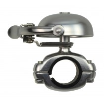 Crane Bell Co. Suzu Mini Klingel Glocke Retro silber matt Die Cast Mount