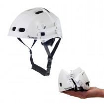Overade Plixi Fit Helm faltbarer Fahrradhelm S/M 54-58 cm weiß