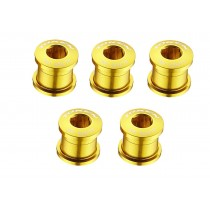 Token Kettenblattschrauben Aluminium 2 / 3 fach Kettenblätter gold 5er Set