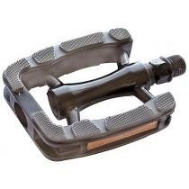 Union Touringpedal SP823 Aluminium/Kunststoff Gummi-Fußauflage schwarz