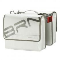 Gepäckträgertasche Fahrradtasche wasserfest LKW Plane stabil 22 L weiß