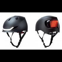 Lumos Matrix LED Helm Licht Blinker Warnlicht charcoal black 54-61cm