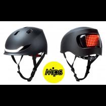Lumos Matrix MIPS LED Helm Licht Blinker Warnlicht charcoal black 54-61cm