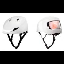 Lumos Matrix LED Helm Licht Blinker Warnlicht jet white weiß 54-61cm