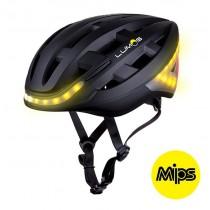 Lumos Fahrradhelm LED Helm Blinker Bremslicht Licht Remote MIPS schwarz black