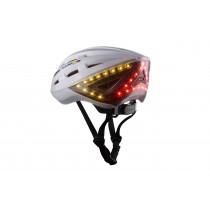 Lumos Fahrradhelm LED Helm Blinker Bremslicht Licht Remote weiß pearl white