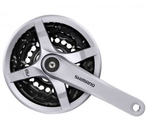 Shimano Tourney FC-TY501 Kettenradgarnitur 24-34-42 Zähne 170mm silber